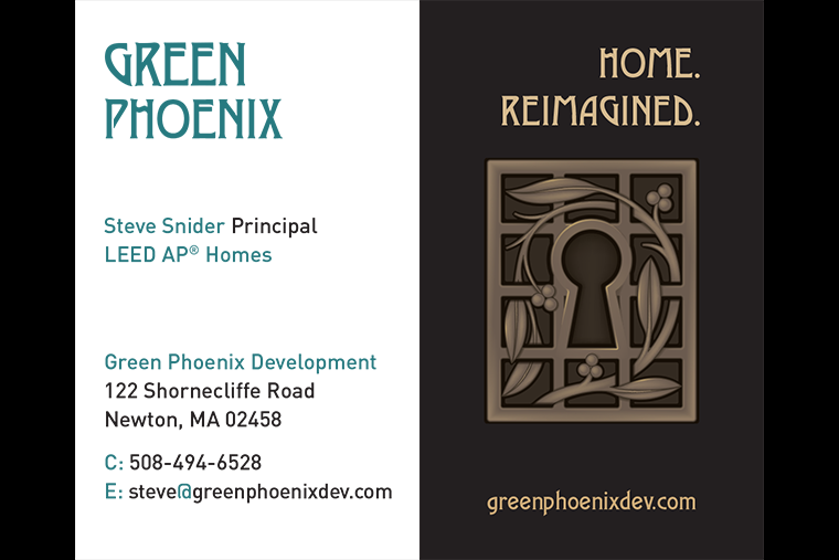 Green Phoenix Development business card
